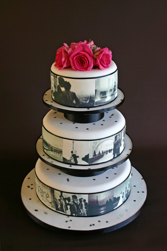 impression alimentaire wedding cake