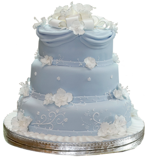 Wedding Cake Blanc Bordeau